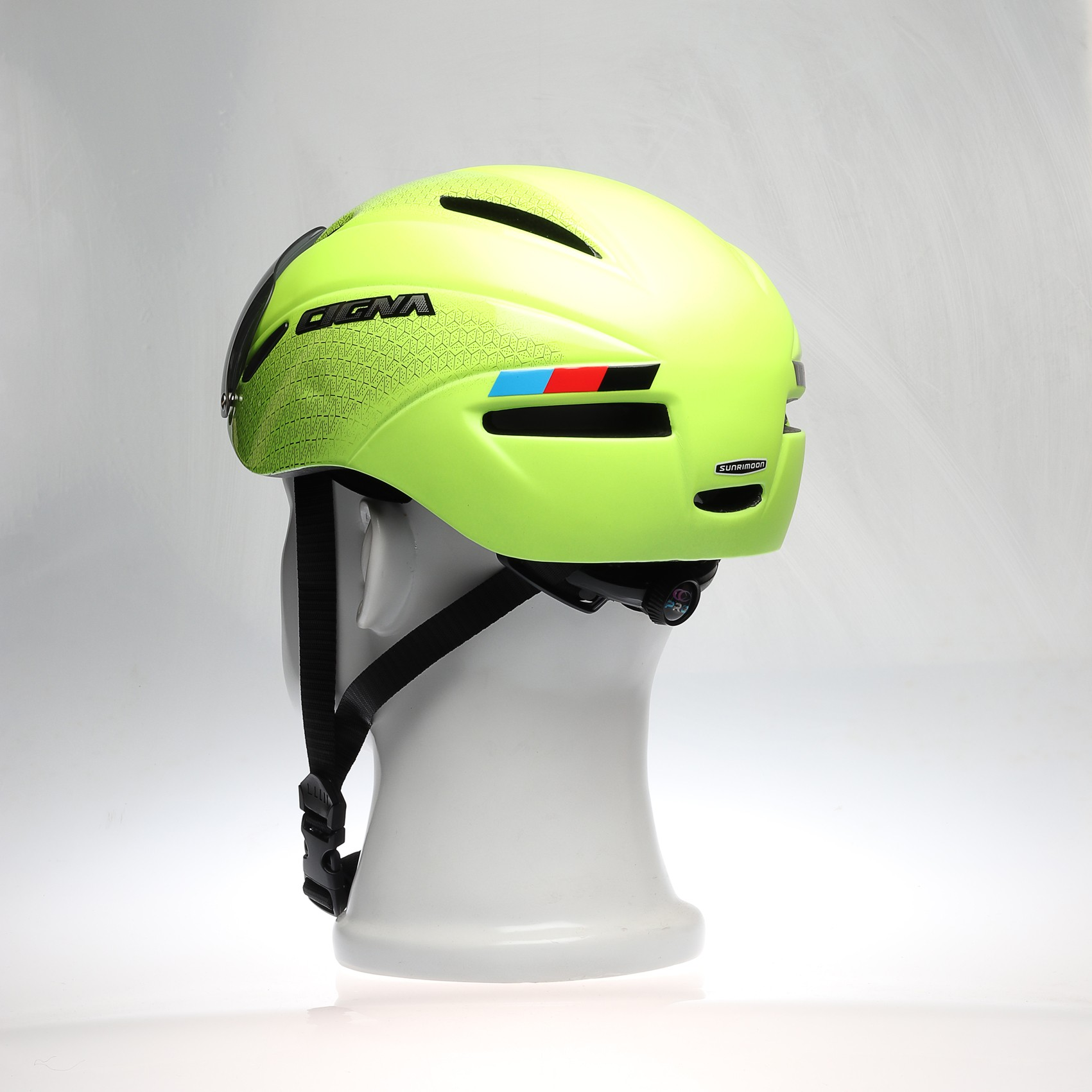 yellow helmet for bicycle